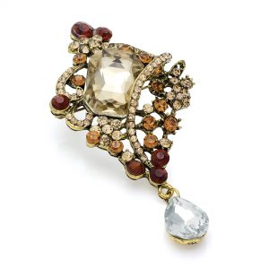 burnishedgold_browntone_crystalbrooch