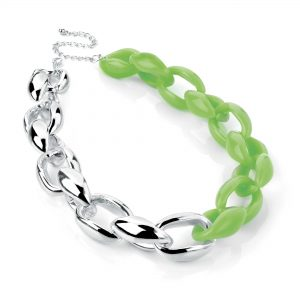 silver_neongreen_chainnecklace